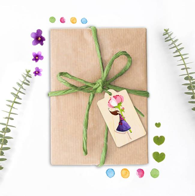 Gift Tag(wooden)(木製ギフトタグ)