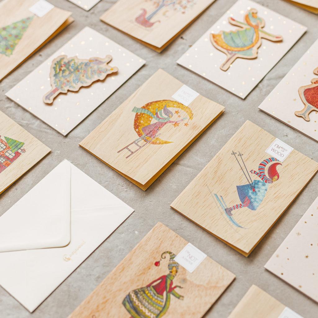 木製グリーティングカード